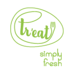 Tr`eat Simply Fresh logo
