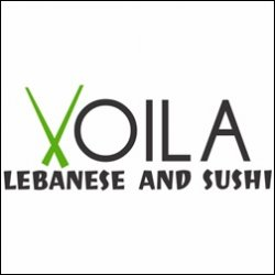Voila Lebanese and Sushi logo