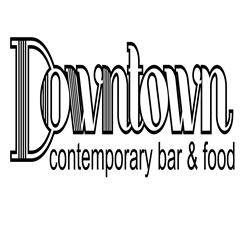 Downtown contemporary bar&food logo
