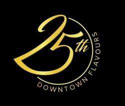 25th Downtown Flavours logo