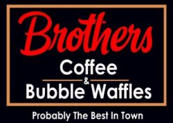 Brothers coffe & bubble waffles logo