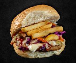 Cheeseburger de pui image