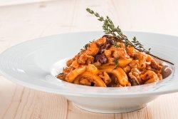 Casarecce al ragu di salsiccia e fagioli