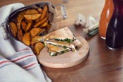 Mushrooms and spinach Quesadilla