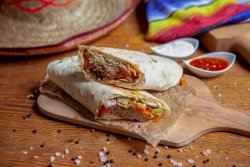 Double Cheese Burrito pulled pork image