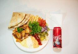 Shaorma pui la farfurie + Coca Cola image