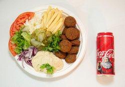 Falafel la farfurie + Coca Cola image