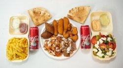 Shaorma mixt mare + 2 Coca Cola image