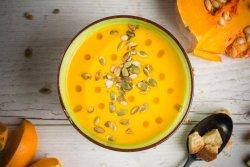 Supă cremă de dovleac cu semințe  image