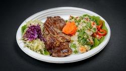 Ceafă de porc + garnitură și salată la alegere image