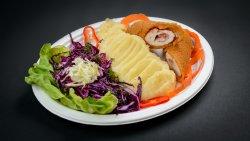 Cordon Bleu + garnitură și salată la alegere image