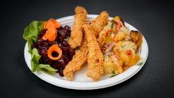 Pui Shanghai + garnitură și salată la alegere image