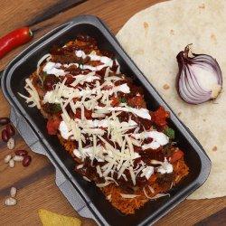 Pork Burrito Bowl / Burrito de Porc la Farfurie