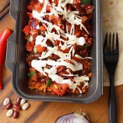 Vegetarian Burrito Bowl / Burrito Vegetarian la Farfurie