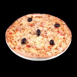 Pizza cu pui și sos alb
