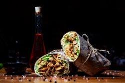 Spicy asian burrito image