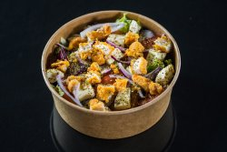 Salată cu pui prăjit și mozzarella image