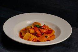Paccheri aglio, olio with shrimps 340g image