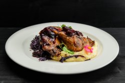 Duck legs with stewed cabbage & mashed potatoes 220g/200g  image