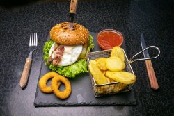 Chicken Egg Burger  image