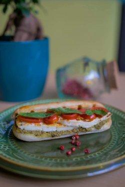 Sandwich verde cald image