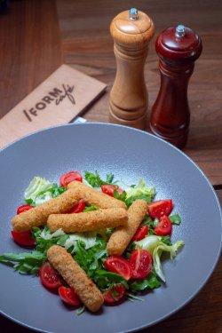 /FORM salad with mozzarella sticks image