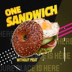 One sandwich veggie image