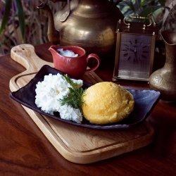 Brânză cu smântână șI mămăliguță image