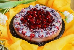Chocolate cherry cheescake image
