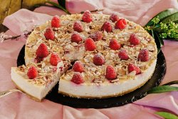 Raspberry Almond Cheesecake image
