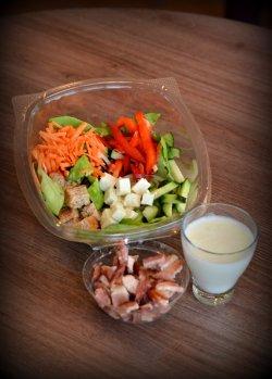Salata cu bacon prajit