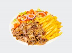 Kebab de vită cu garnitură la alegere L