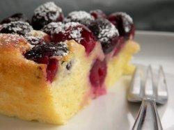 Custard cherry cake image