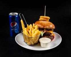 Meniu hamburger big + suc Pepsi la doză image