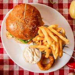 11. Meniu hamburger șuncă cu carne și cașcaval
