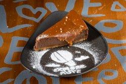 Salty caramel cheesecake image