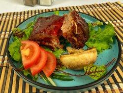 Costițe de porc sous-vide cu sos BBQ image