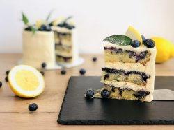 Lemon & blueberries Cake image