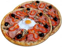 Pizza 1+1 Țărănească 32 cm