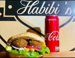 Falafel la pită de post+ Coca Cola