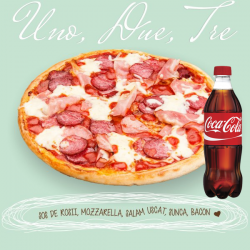 Pizza Une Dues Tres