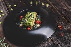 Salmone spinaci verdure image