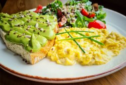 Scrambled & Avocado toast image