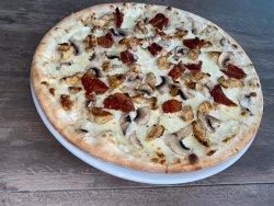 Pizza con Pollo e Funghi