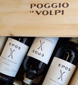 POGGIO LE VOLPI EPOS FRASCATI SUPERIORE DOCG BIANCO RISERVA GIFT SET 6 ST. X 0.75L image