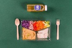 Crudități & Hummus & Crackers + Ceai rece cu chia