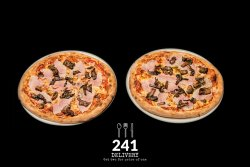 Pizza Proscciuto Cotto Funghi 1+1