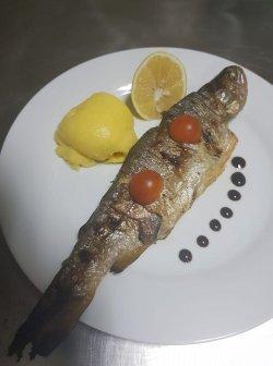 Păstăv grill cu sos