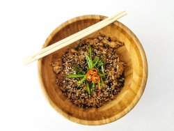 Fried rice with spicy chicken image