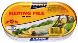 hering file in ulei losos 175gr